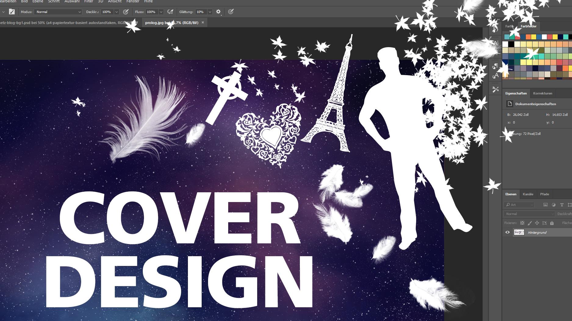 Ein Cover wird in Photoshop gebaut