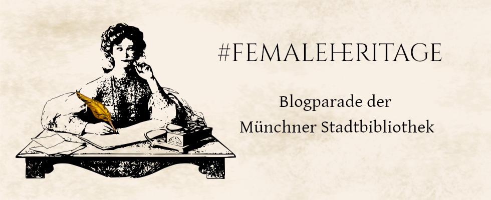 Lesende Frau am Schreibtisch mit goldener Nornenfeder