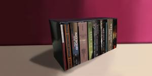 Schuber mit verschiedenen Büchern