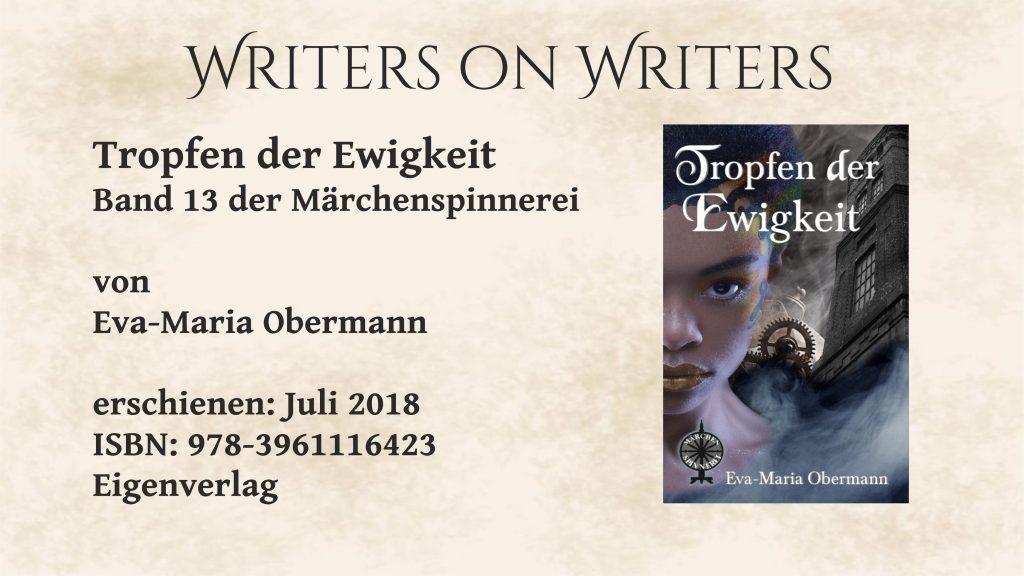 Writers on Writers Buchcover Tropfen der Ewigkeit
